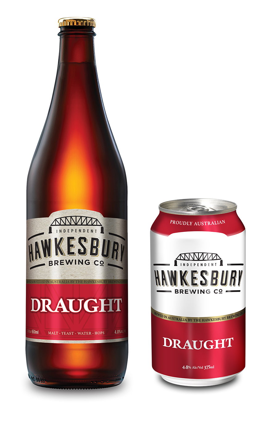 Draught 650ml bottle & 375ml can