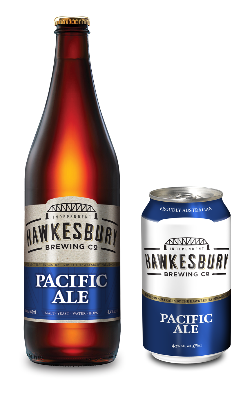 Pacific Ale 650ml bottle & 375ml can