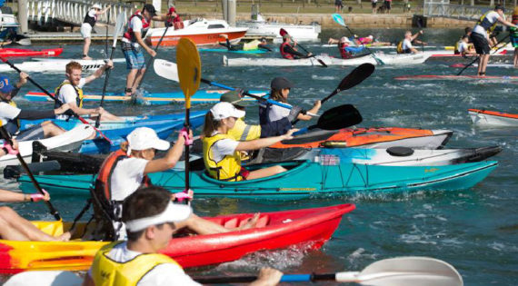 Participants at the 2017 Pittwater Paddle