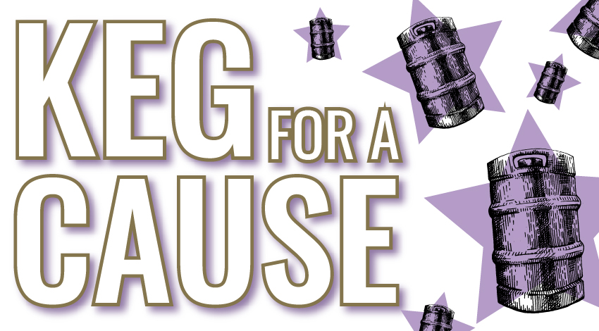 Keg for a Cause Layne Beachley Foundation flyer